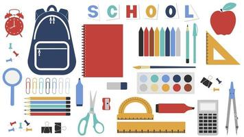 Vector of the school bundle