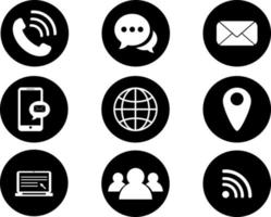 Vector of the communication icons