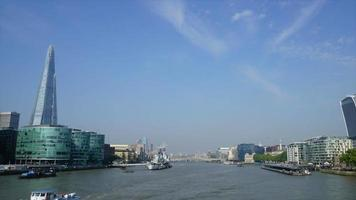 Timelapse London City with Thames River in England video