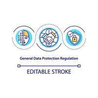 icono de concepto de regulación de protección de datos general vector
