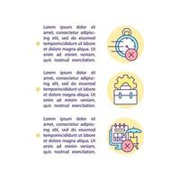 Workers in zero-hours contracts concept line icons with text vector