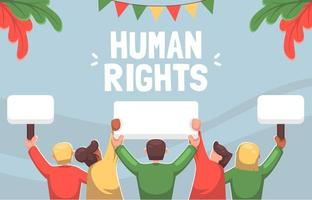 Human Rights Background vector
