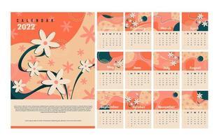 2022 Calendar Card vector