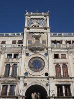 St Mark clock tower in Venice photo