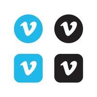 Vimeo app icon. vector