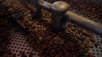 While the Coffee Grains are Roasted in the Machine video