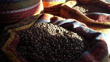 Coffee Grains in Sack video