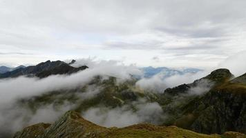 Time-lapse of moving clouds in the mountains video