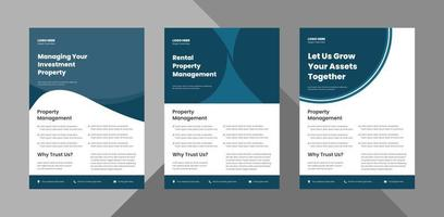 creative agency flyer design bundle. modern business poster leaflet design.  bundle, 3 in 1, a4 template, brochure design, cover, flyer, poster, print-ready vector