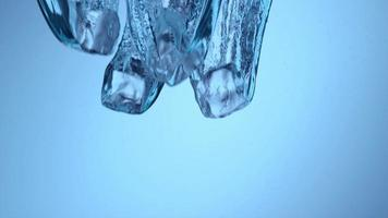 Ice splashing into water in slow motion, shot on Phantom Flex 4K at 1000 fps video