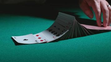 Card tricks in slow motion. shot on Phantom Flex 4K at 1000 fps video