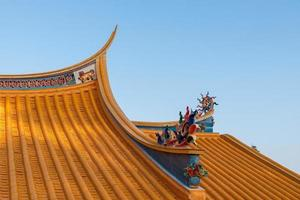 Eaves and corners of traditional Chinese Buddhist Architecture photo