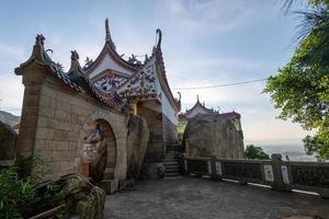The whole and part of Chinese traditional religious architecture photo