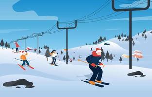 Winter Sport Activity Concept vector