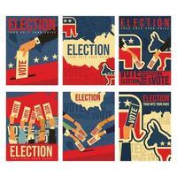 concepto de tarjeta de voto general de elección vector