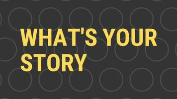 What's Your Story Animated Text Design Black background. Animation What's Your Story. Animation for, shop, discount, sale, decoration. Point Blank Style video