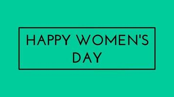 Happy Women's Day Lettering Green screen background. Animation Women day. Women day animated. Animation for Women's day, shop, discount, sale, decoration. Framed Style video