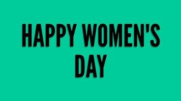 Happy Women's Day Lettering Green screen background. Animation Women day. Women day animated. Animation for Women's day, shop, discount, sale, decoration. Daring Style video