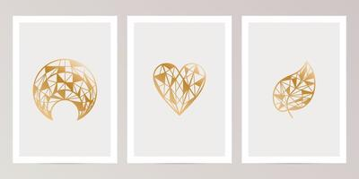 Set of abstract design for wall decoration vector