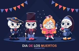 Dia De Los Muertos Character Collection vector
