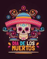 Colorful Dia De Los Muertos Greeting vector
