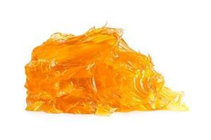 Lubricación de maquinaria de litio amarillo grasa para automoción e industrial aislado sobre fondo blanco con trazado de recorte foto