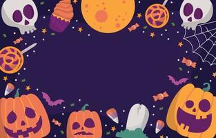 Halloween Spooky Element Background vector
