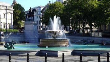 timelapse Trafalgar Square in London City, UK video