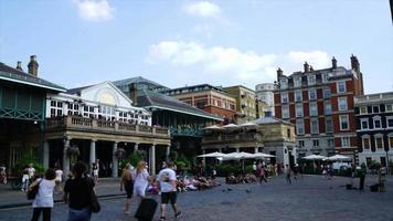 Timelapse of Covent Garden in London, UK video