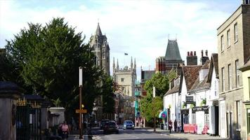 Timelapse of Cambridge City in UK video