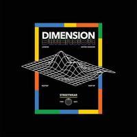 dimension london streetwear simple vintage vector