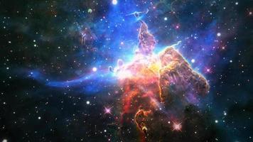Space Flight to  the Carina Nebula exploration video