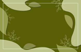 abstract liquid background with natural green color vector