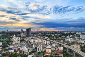 Bangkok, Thailand aerial view with skyline photo