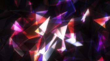 Estructura de conexión de red multicolor 3d moviendo puntos y líneas video