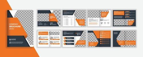 Company profile or business brochure design vector