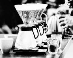 coffee preparing with chemex, Chemex Dripping hot fresh coffee photo