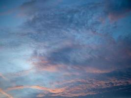 Sky and clouds at sunset. photo
