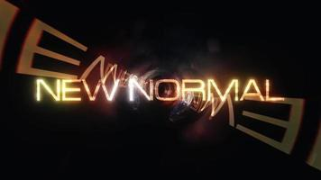 New NORMAL cinematic title background with abstract digital Sci-F video