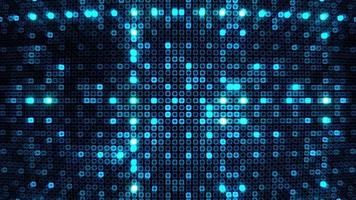 digital technology blue grid line mosaic tile pattern loop motion video