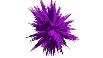 Animation of a colored explosion of a powder. 3D rendering. video
