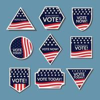 etiqueta engomada de la elección general de EE. UU. vector