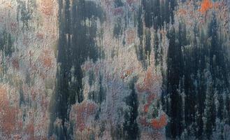Dark rusty metal texture. Vintage effect photo
