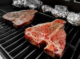 T-bone steak grilled photo