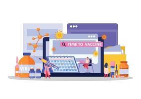composición plana de vacunación vector