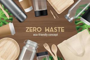Realistic Zero Waste Background vector