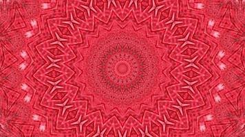 Red abstract pattern background. 4K geometric energy fractal texture. video