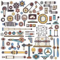 Dudling parts of machinery vector