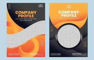 Company Profile Template Cover Design vector