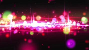 animation de boucle de ligne de particules de lumière rouge video